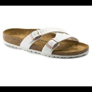 Birkenstock's White Yao Slide Sandal!